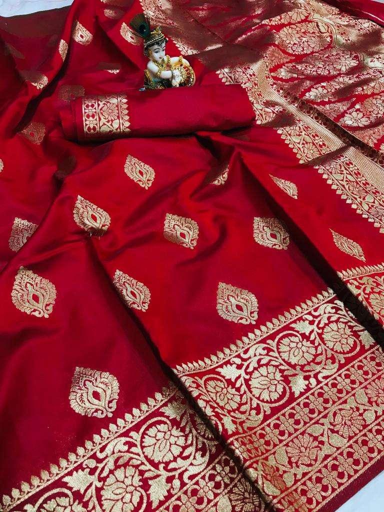 07 Banarasi silk party wear saree collection