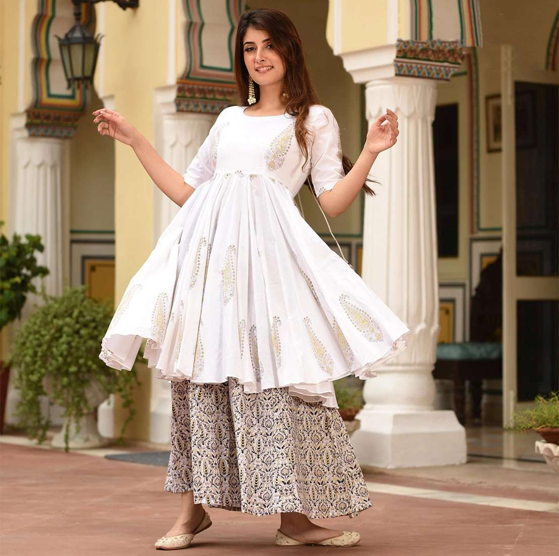 LATEST DESIGNER KURTIS PALAZZO PARTY WEAR COLLECTION 07