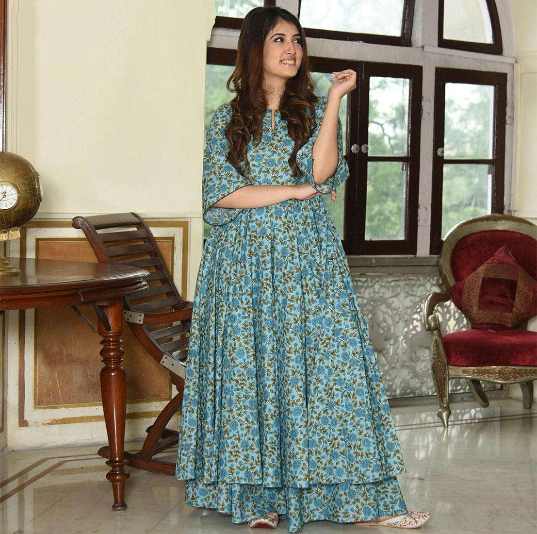 LATEST DESIGNER KURTIS PALAZZO PARTY WEAR COLLECTION 08