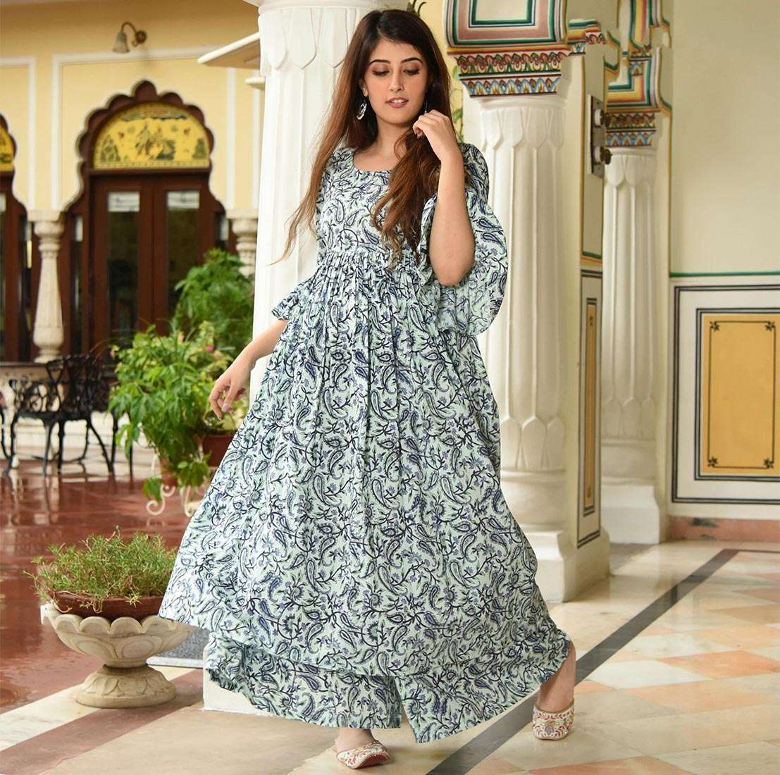 LATEST DESIGNER KURTIS PALAZZO PARTY WEAR COLLECTION 09