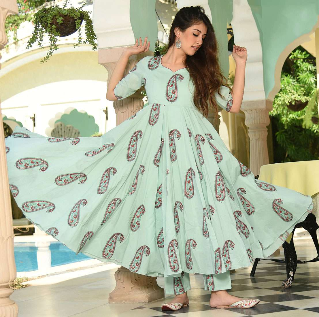 LATEST DESIGNER KURTIS PALAZZO PARTY WEAR COLLECTION 12