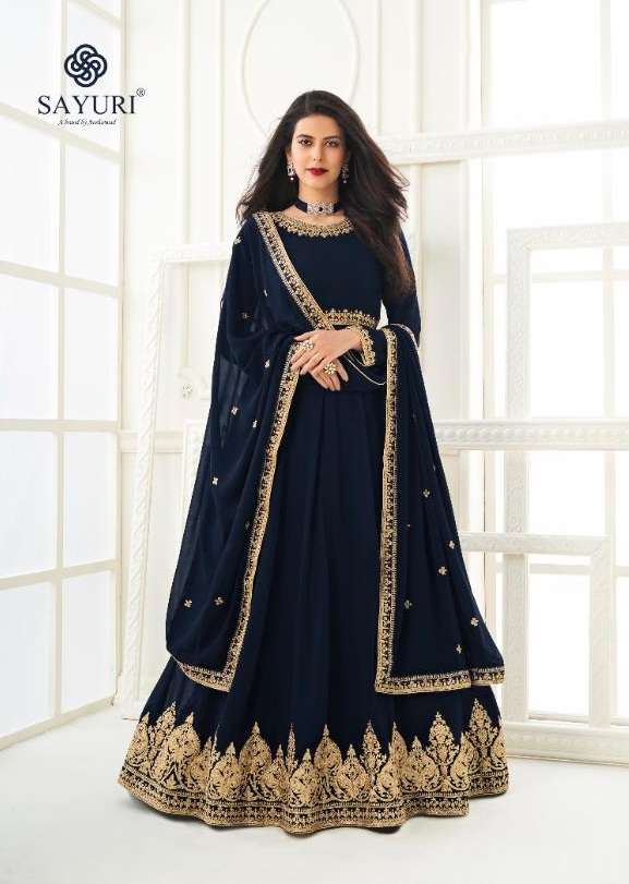 Aashirwad Creation Sayuri Kesha Georgette With Embroidery Work Salwar Kameez Collection