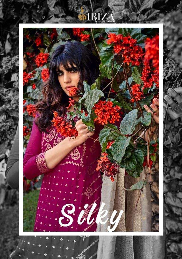 Ibiza Silky Pure Woven Russian Silk Jacquard Dress Material Collection