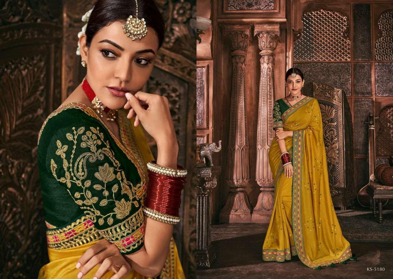 Kimora Fashion Kajal Kimora Vol 9 pure fancy  designer wedding wear saree collection 5180