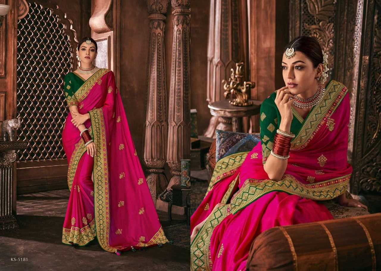 Kimora Fashion Kajal Kimora Vol 9 pure fancy  designer wedding wear saree collection 5181