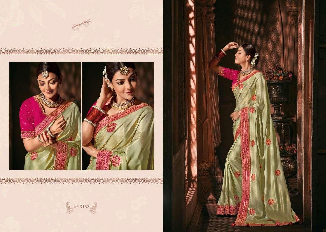 Kimora Fashion Kajal Kimora Vol 9 pure fancy  designer wedding wear saree collection 5182
