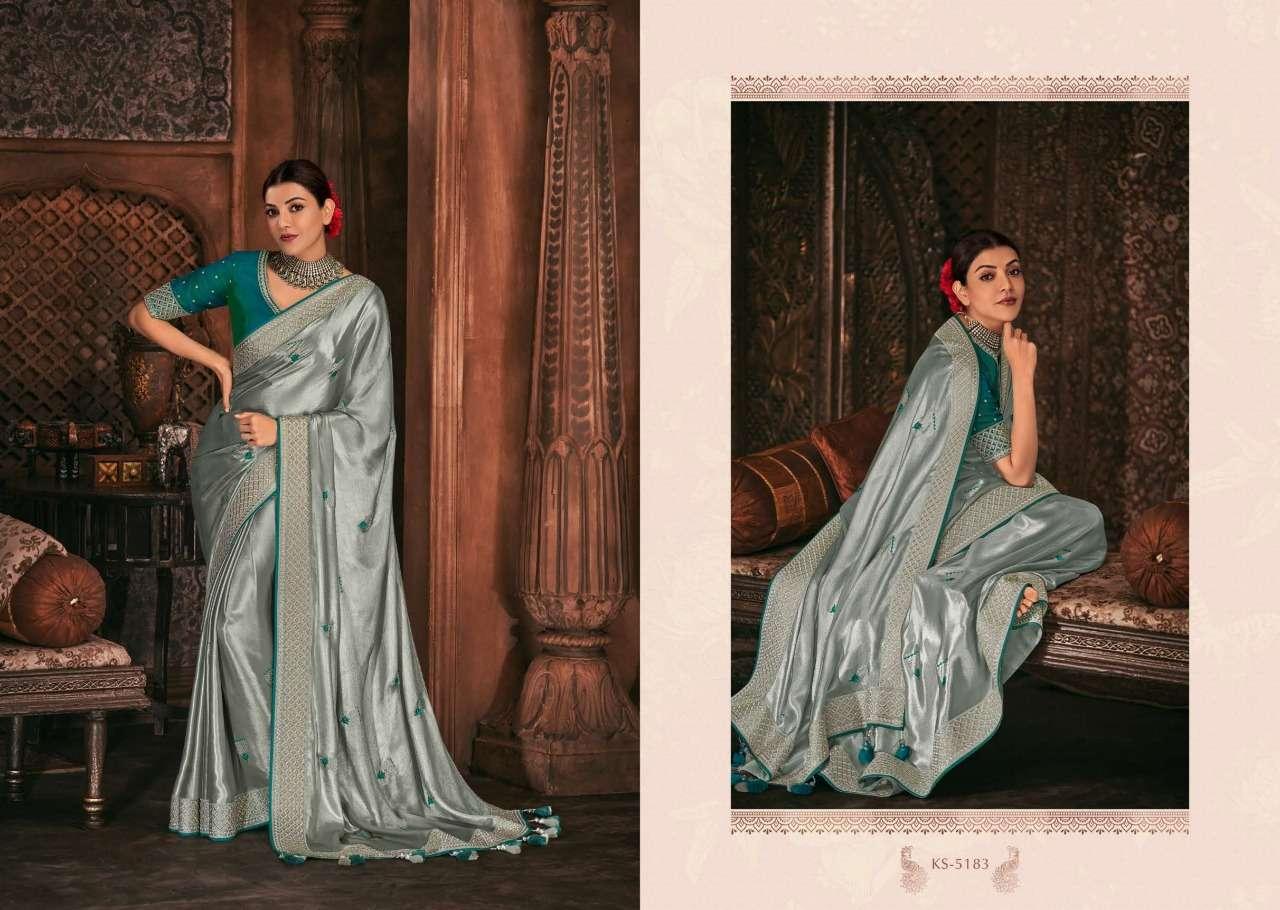 Kimora Fashion Kajal Kimora Vol 9 pure fancy  designer wedding wear saree collection 5183