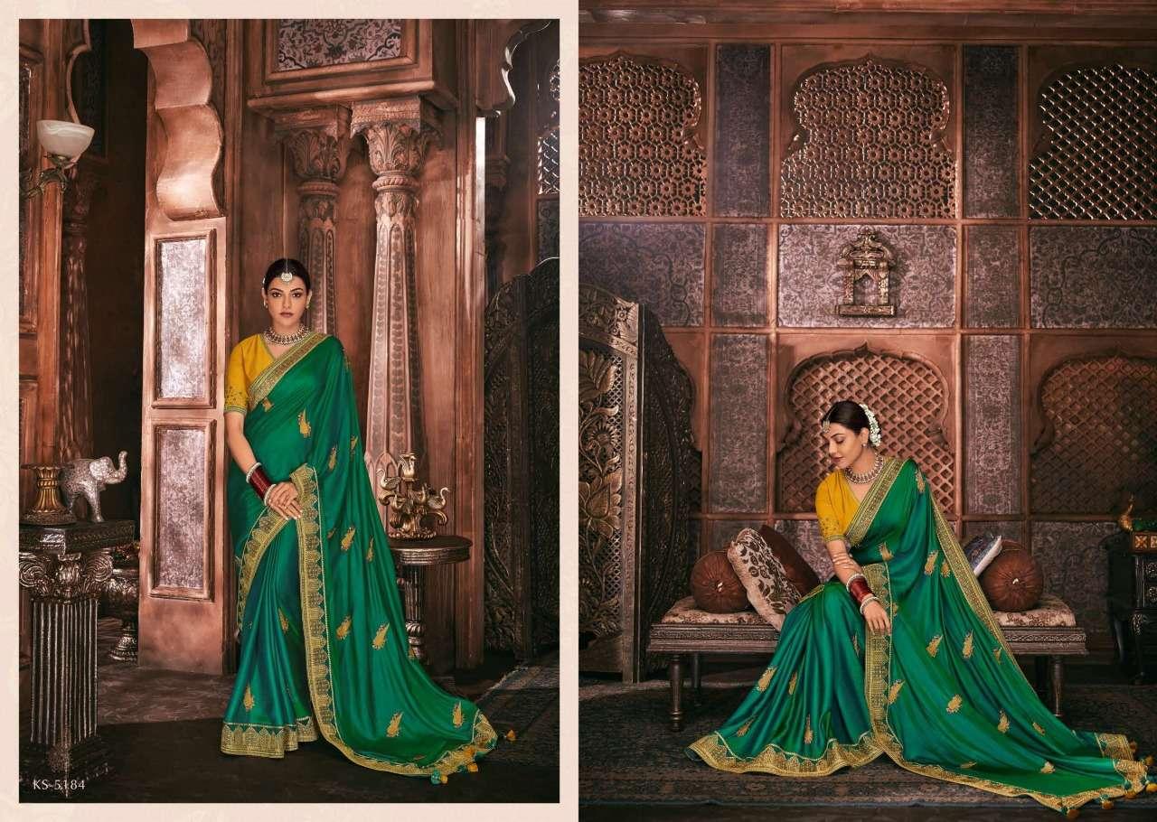 Kimora Fashion Kajal Kimora Vol 9 pure fancy  designer wedding wear saree collection 5184