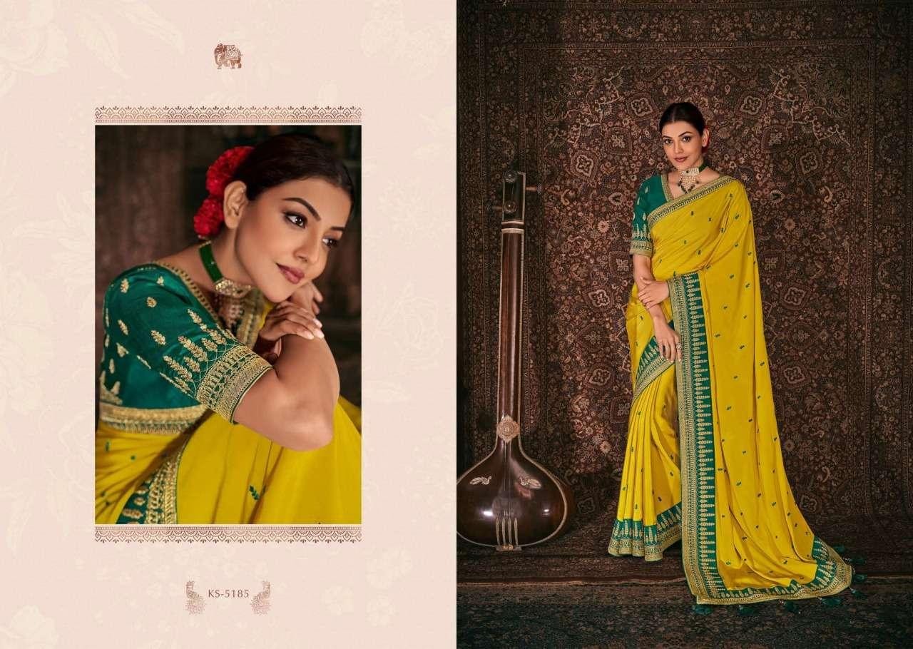 Kimora Fashion Kajal Kimora Vol 9 pure fancy  designer wedding wear saree collection 5185