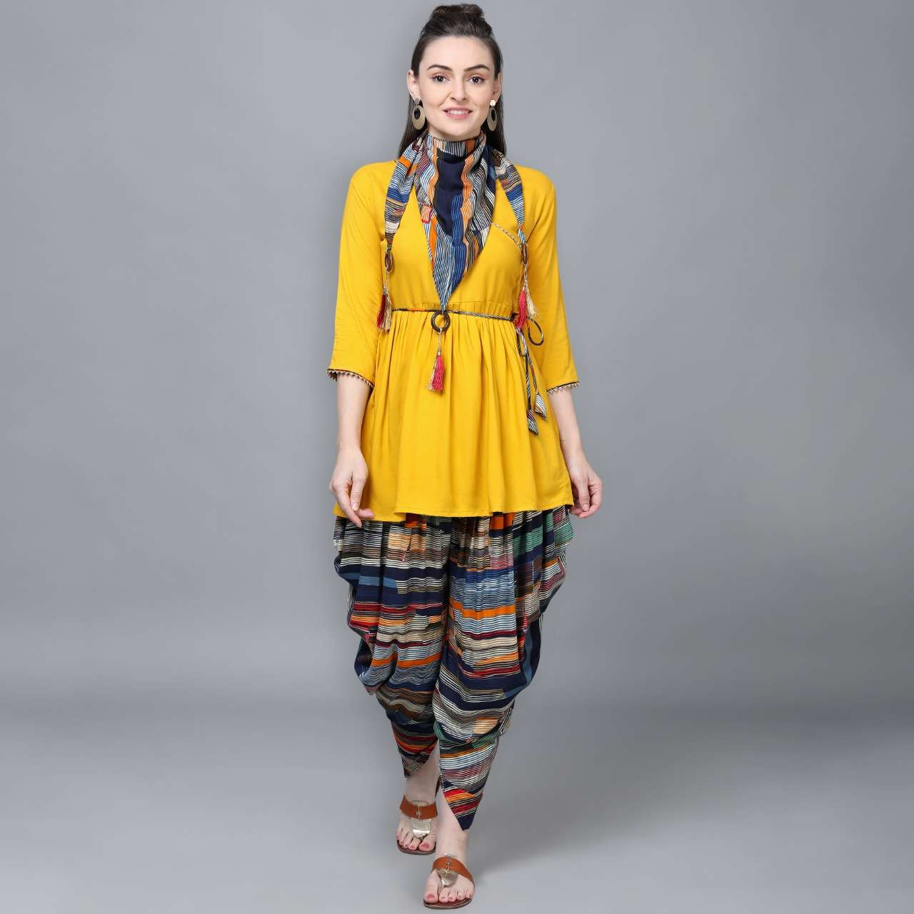 KURTI TOP WITH DHOTI COLLECTION