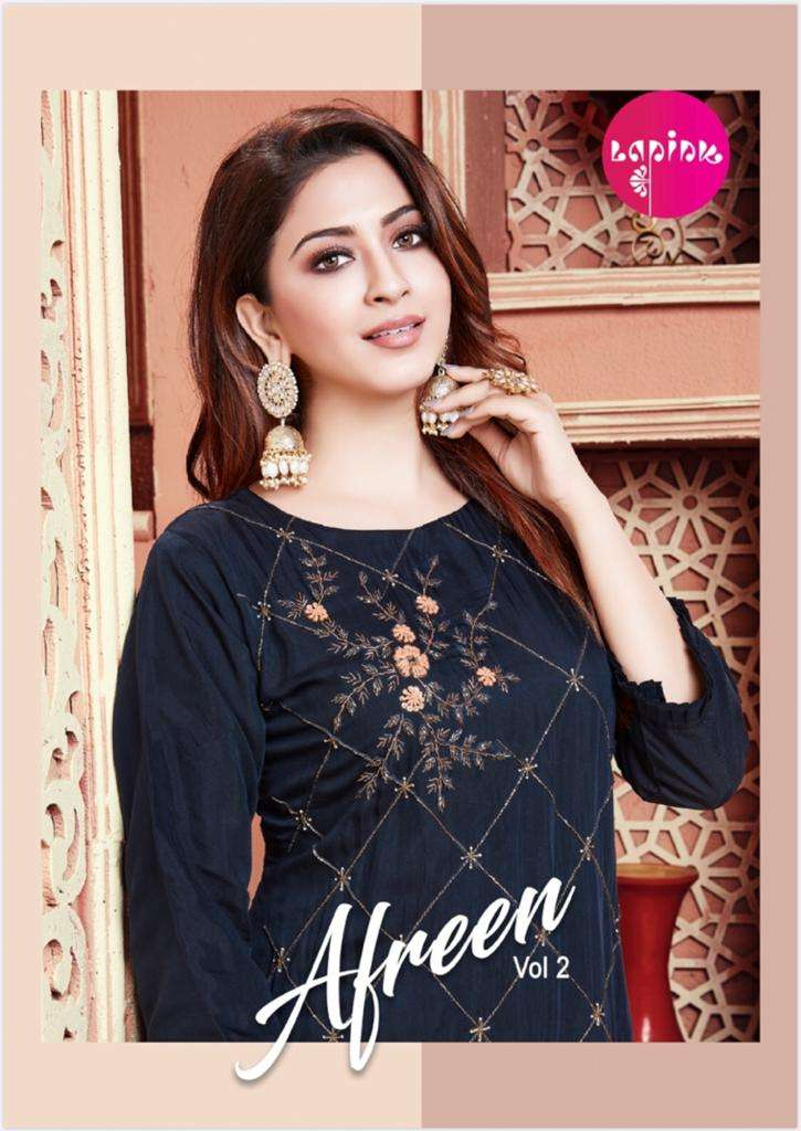 LA Pink Afreen Vol 2 Georgette With Embroidery work Kurti With Sharara With Dupatta Collection