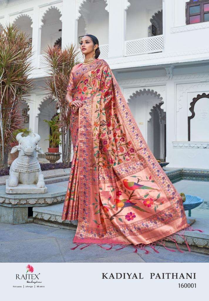 Rajtex Kadiyal Paithani Silk Wedding Wear Sarees collection