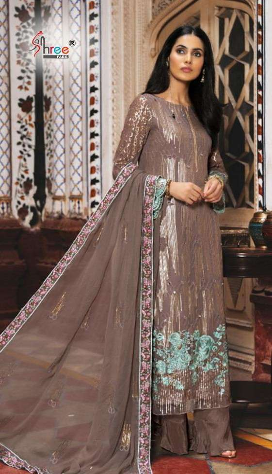 Shree Fab S 268 Faux georgette With Embroidery Work Pakistani Suits collection