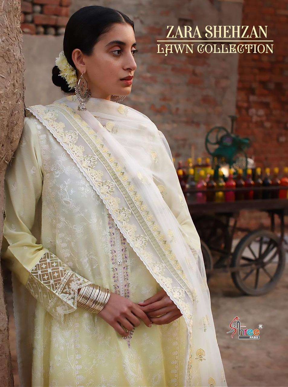 Shree Fabs Zara Shahjahan Lawn Collection Cambric Cotton With heavy embroidery Work Pakistani Suits Collection