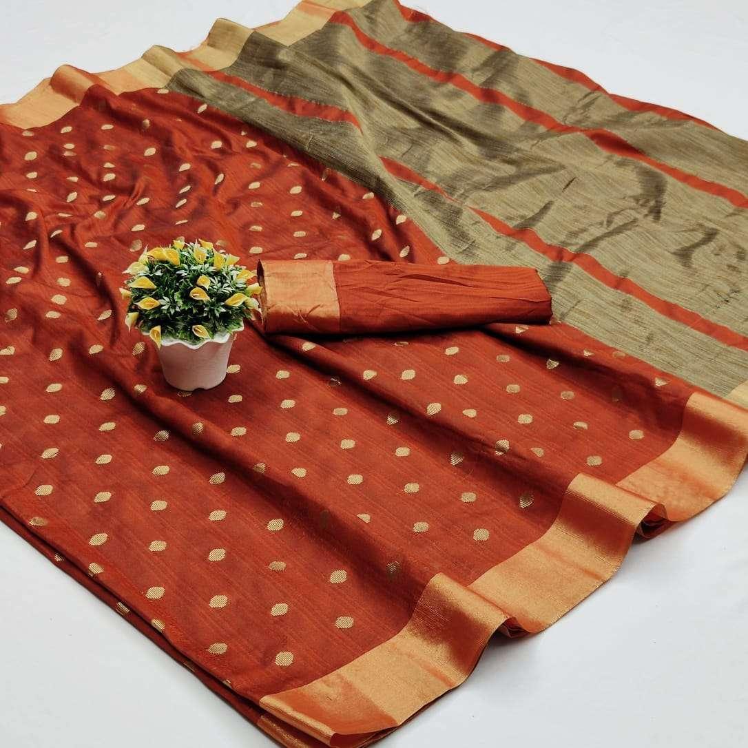 Soft Cotton Silk Saree With Jacquard Weaving Butti Sarees Collection 09