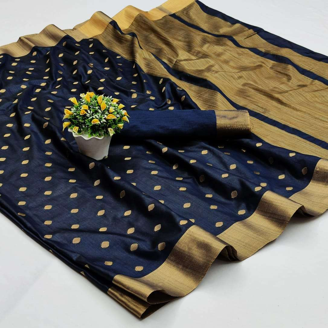 Soft Cotton Silk Saree With Jacquard Weaving Butti Sarees Collection 11