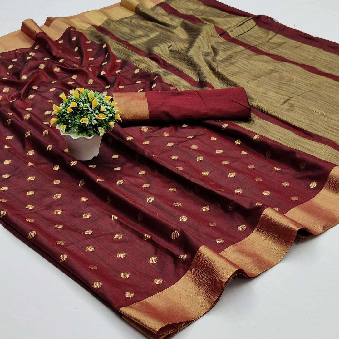 Soft Cotton Silk Saree With Jacquard Weaving Butti Sarees Collection 12