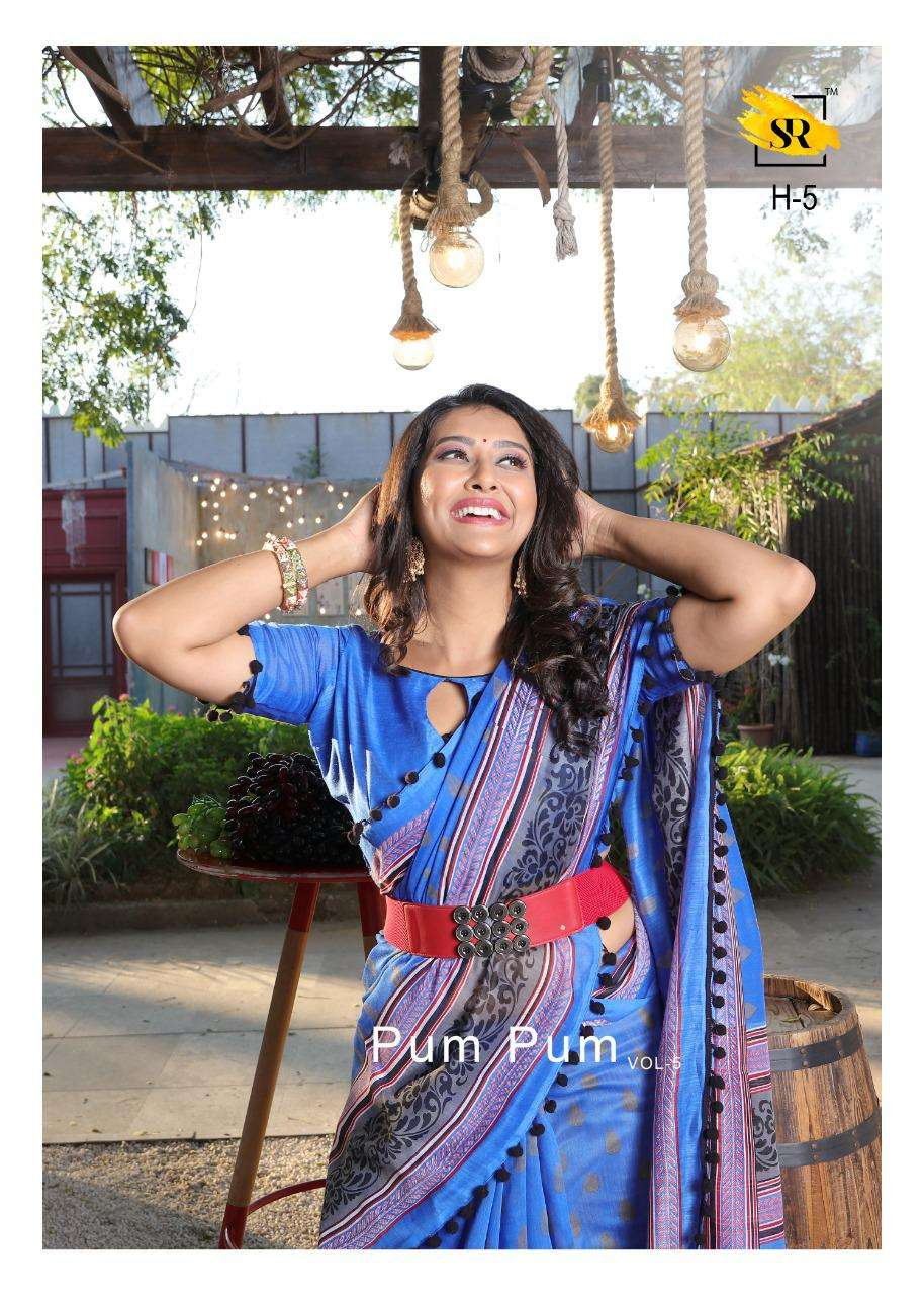 SR Sarees Pum Pum Vol 5 Soft Cotton Printed Regular Wear Sarees Collection