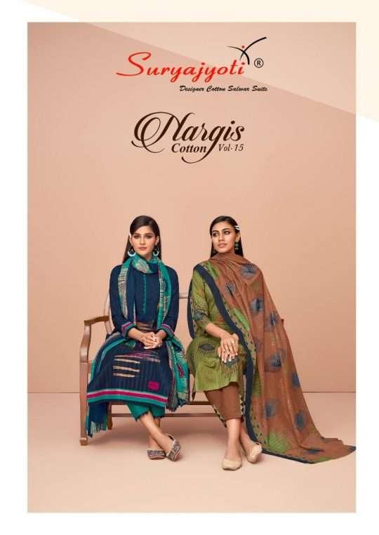 Suryajyoti Nargis Vol 15 Pure Cotton Printed Dress Material Collection