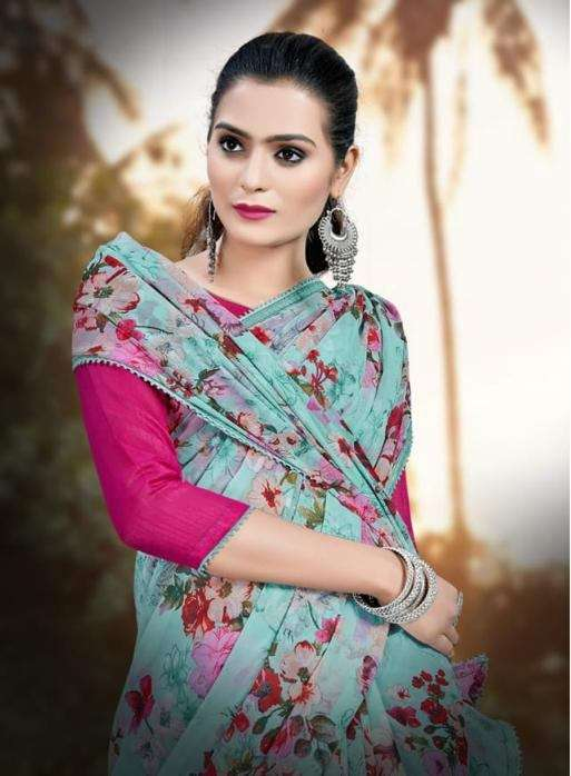 Tamanna Georgette Printed Regular Wear Printed Sarees Collection