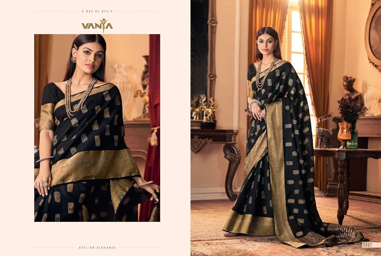 Vanya 3000 Series Jacquard With Digital Print Sarees 3001