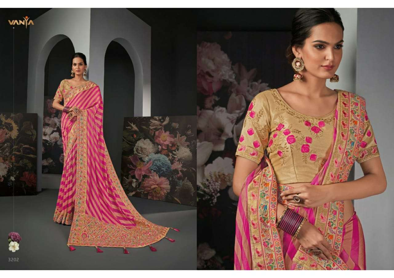 Vanya Vol 22 heavy silk wedding wear saree collection 02