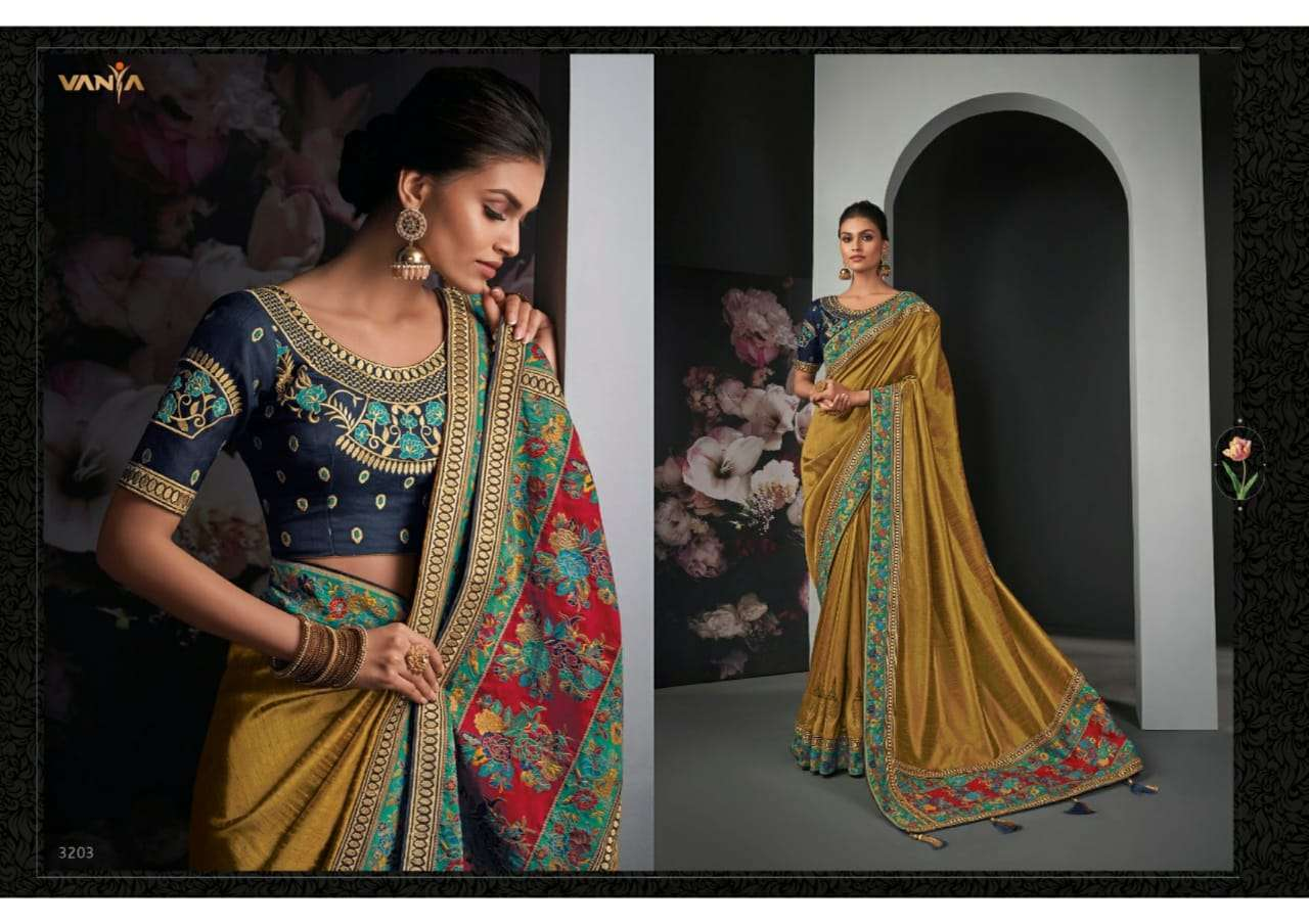 Vanya Vol 22 heavy silk wedding wear saree collection 03