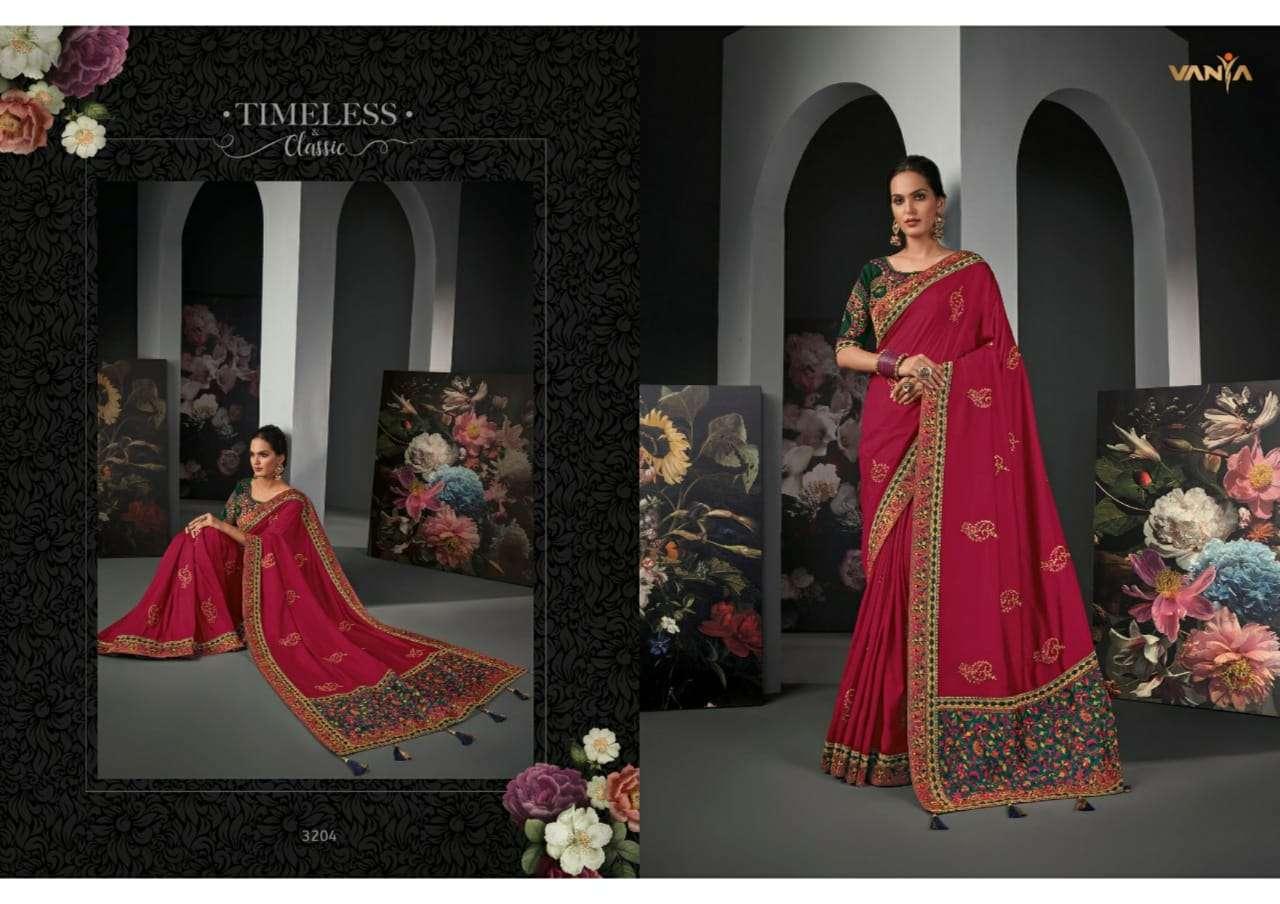 Vanya Vol 22 heavy silk wedding wear saree collection 04
