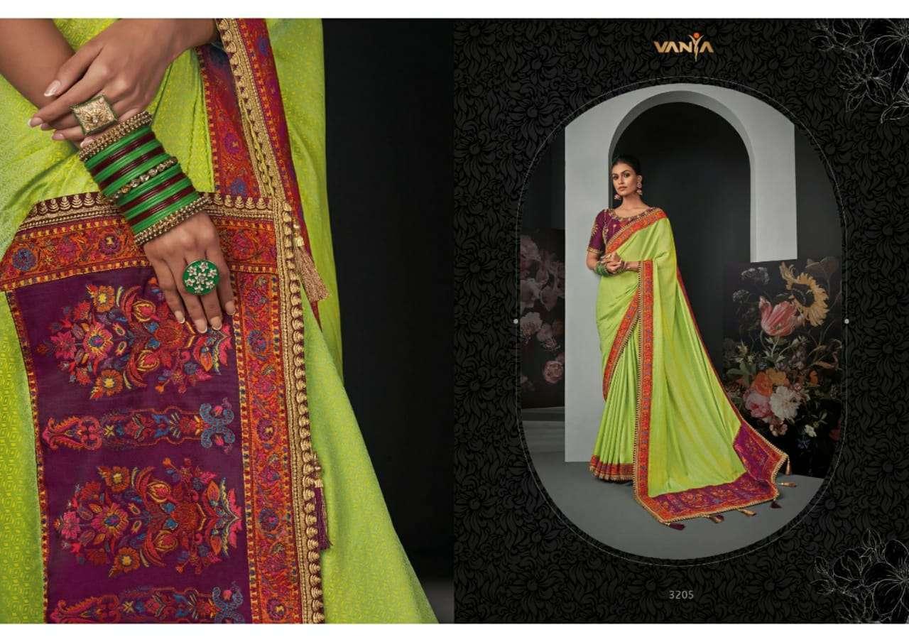 Vanya Vol 22 heavy silk wedding wear saree collection 05