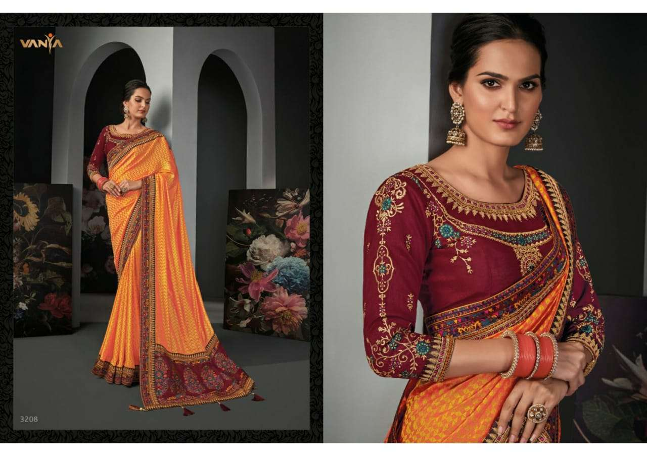 Vanya Vol 22 heavy silk wedding wear saree collection 08