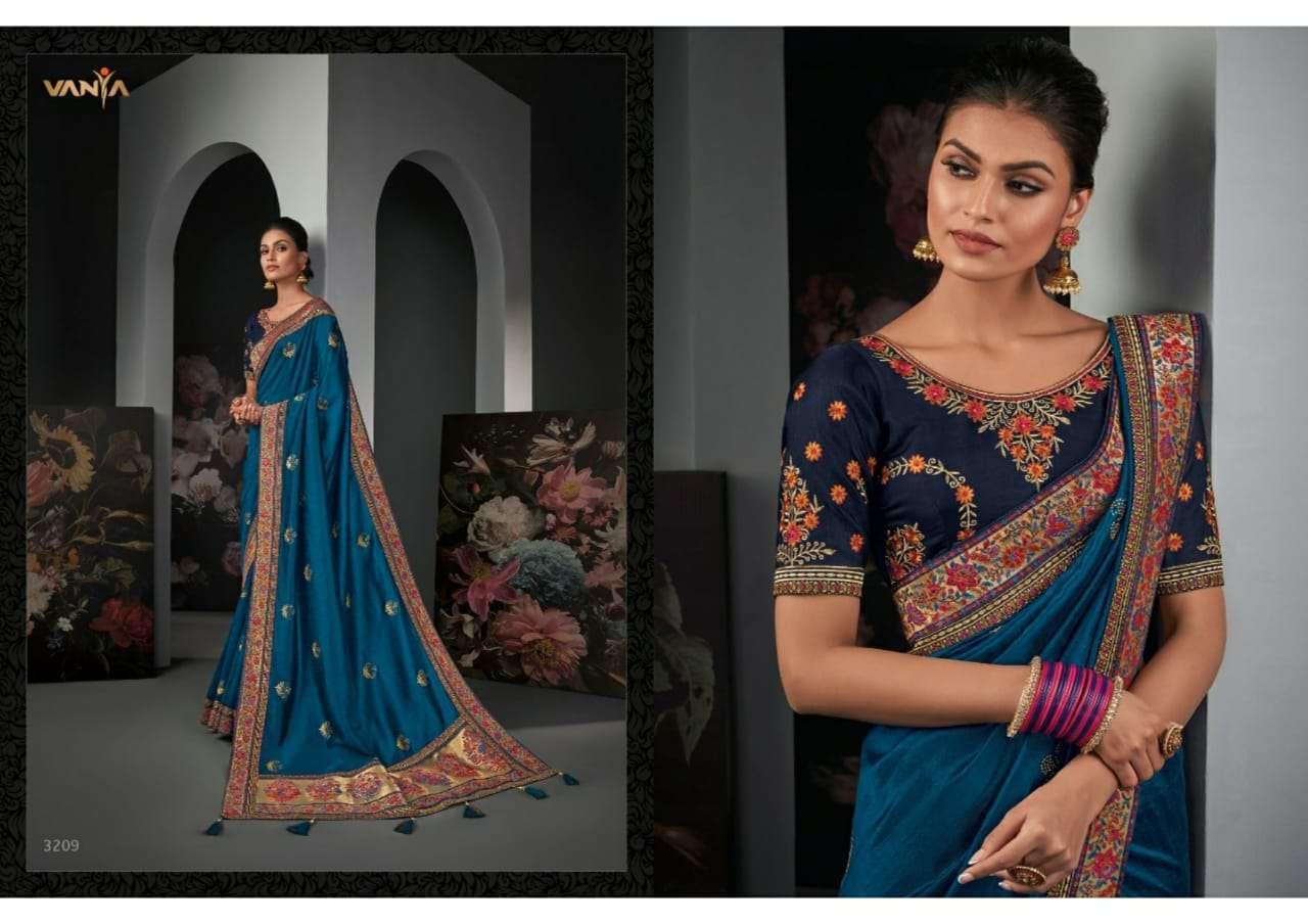 Vanya Vol 22 heavy silk wedding wear saree collection 09