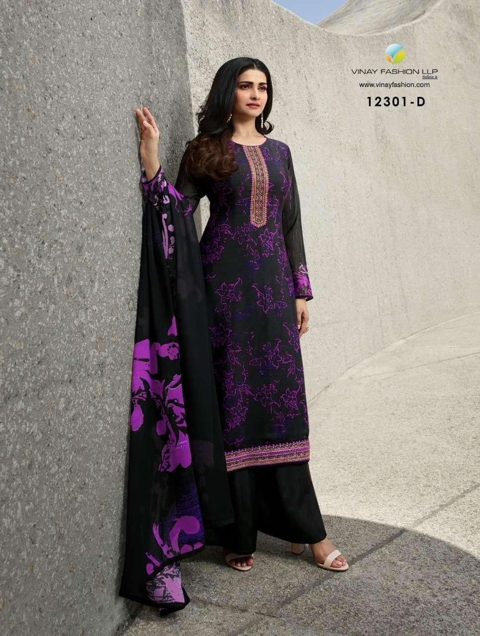 Vinay Fashion Royal Crepe Digital Print Dress Material 12301 D