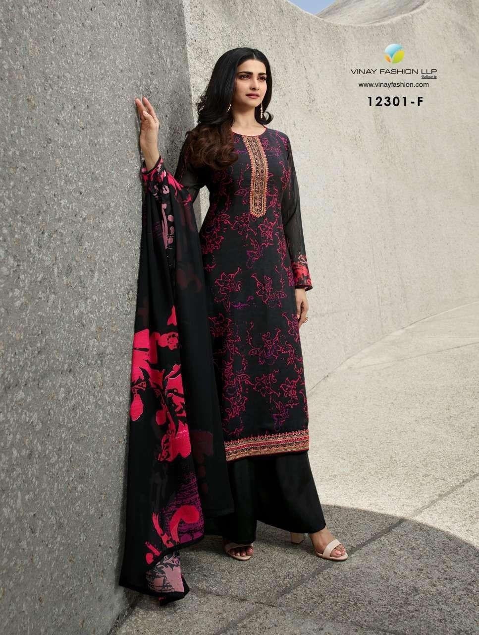 Vinay Fashion Royal Crepe Digital Print Dress Material 12301 F