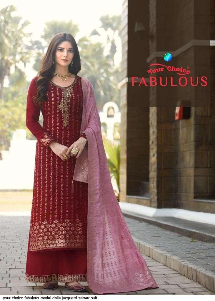 Your Choice Fabulous Modal Dola jacquard With Work Salwar Kameez Collection