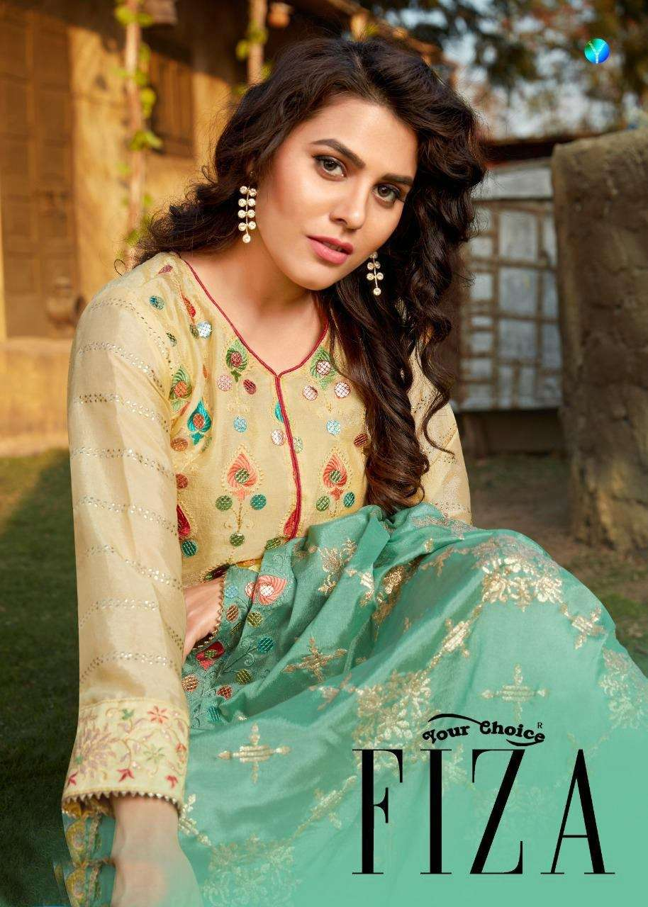 Your Choice Fiza Heavy Chinon With Embroidery Work Salwar Suits Collection