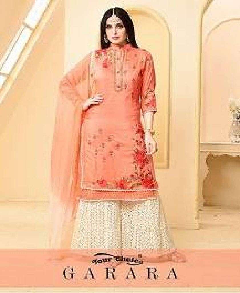 Your Choice Garara Jam Cotton With Embroidery Work Sharara Salwar Suits Collection