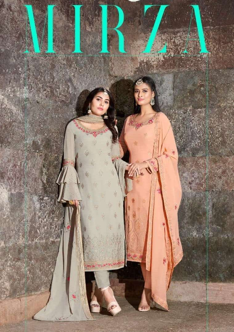 Your choice Mirza Real Georgette With Embroidery Work Salwar Suits