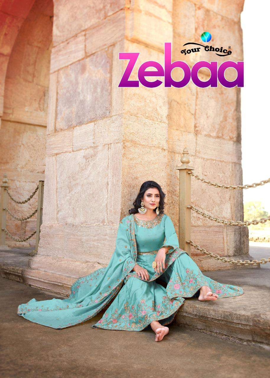 Your Choice Zebaa jam silk With heavy Embroidery Work Salwar Suits Collection At Wholesale rate
