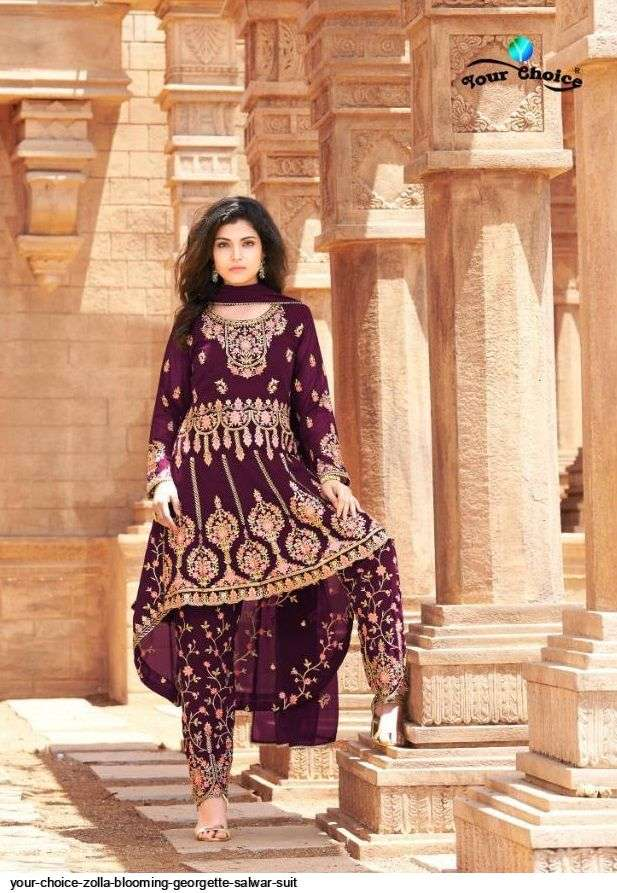 Your Choice Zolla Blooming Georgette With Embroidery Work Salwar Kameez Collection