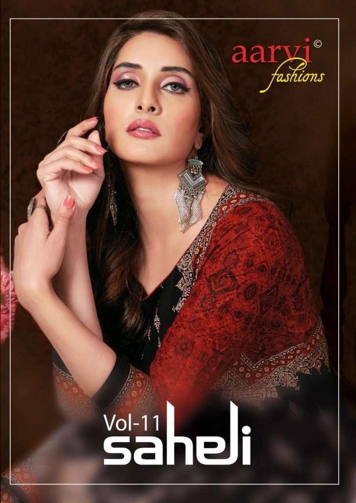 Aarvi Fashion Saheli vol 11 Cotton Printed Kurtis collection