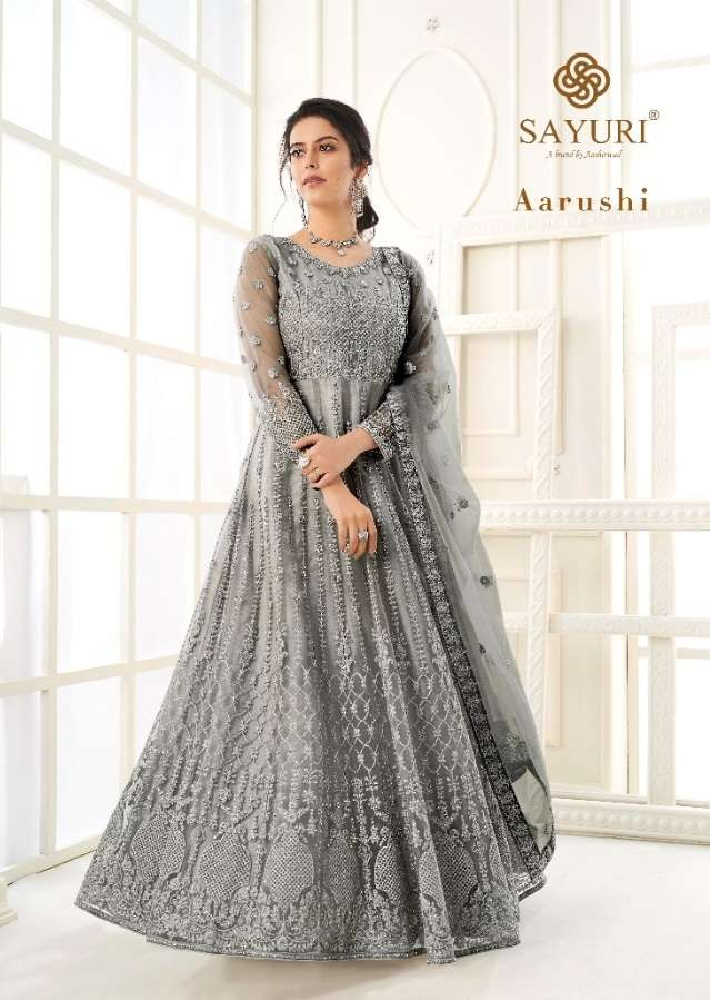 Aashirwad Creation Aarushi Butterfly net With Embroidery Work Designer Salwar Kameez Collection