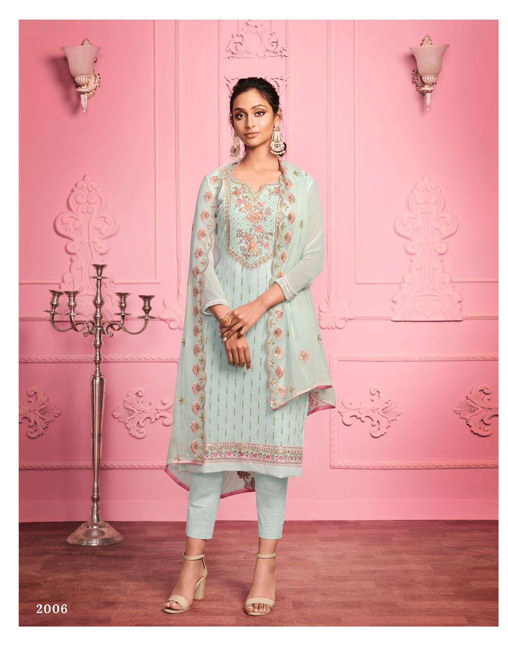 Alizeh Murad Vol 1 Georgette With Thread Embroidery Work Dress Material Collection 01