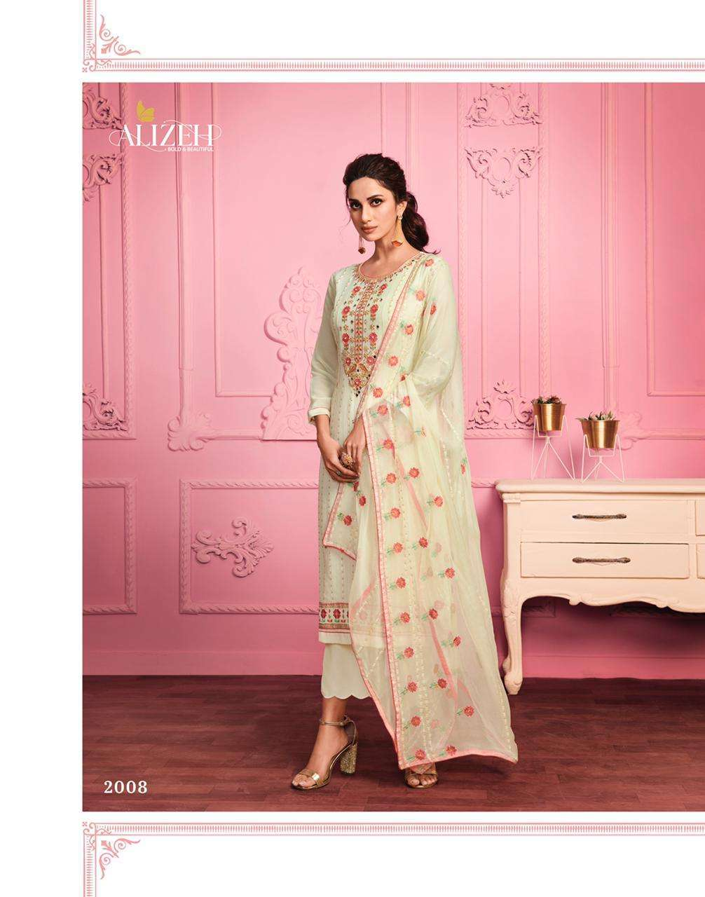 Alizeh Murad Vol 1 Georgette With Thread Embroidery Work Dress Material Collection 03