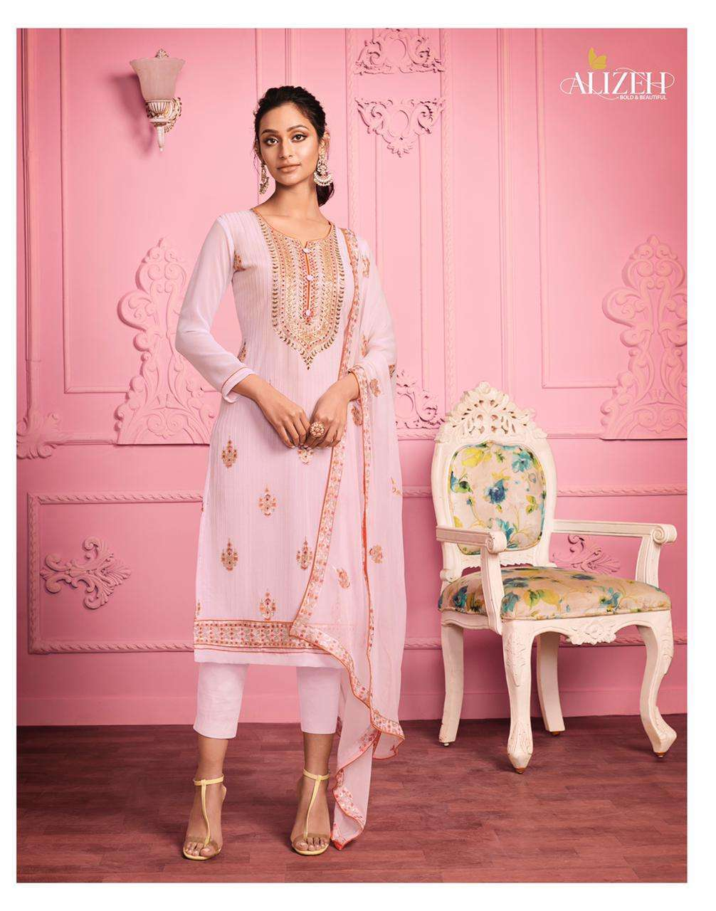 Alizeh Murad Vol 1 Georgette With Thread Embroidery Work Dress Material Collection 06