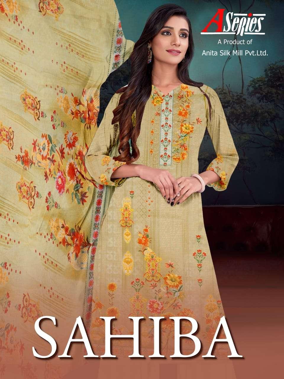 Anita Silk Mills Sahiba Pure Cambric Cotton With Digital Print Dress Material Collection