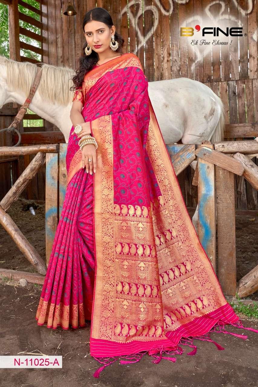 B FINE ART OF ZARI  soft silk party wear saree collection 01