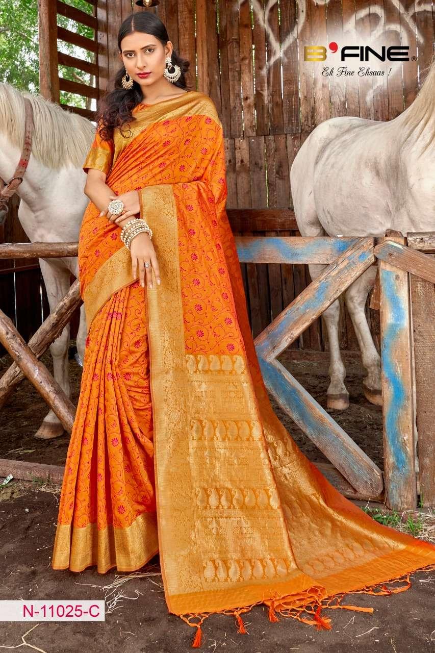B FINE ART OF ZARI  soft silk party wear saree collection 02