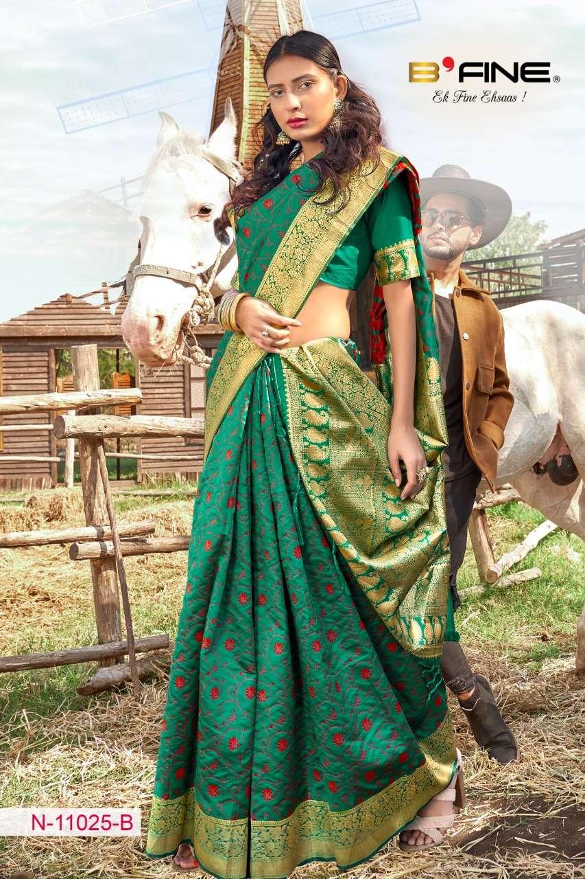 B FINE ART OF ZARI  soft silk party wear saree collection 03