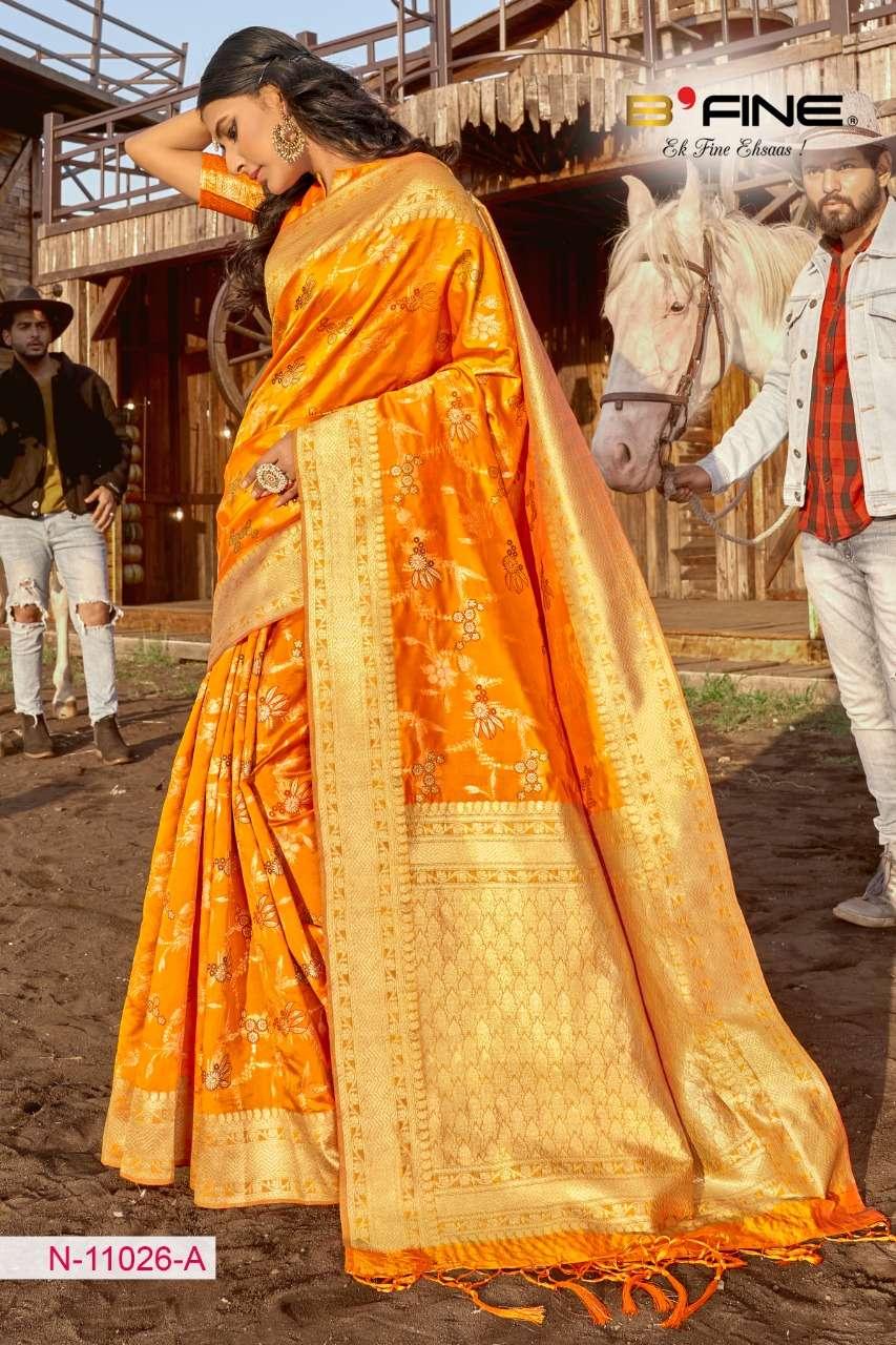 B FINE ART OF ZARI  soft silk party wear saree collection 04