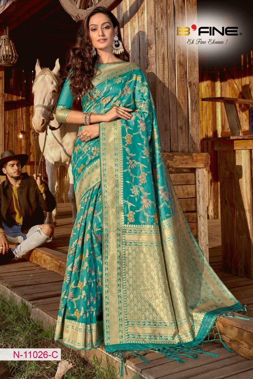 B FINE ART OF ZARI  soft silk party wear saree collection 07